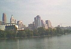 View of Ohio River at Cincinnati Ohio
