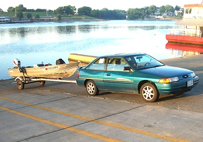my small fishing boat and car